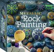 Paint Your Own Metallic Rocks Includes Paint and Stones Great Stone Painting Kit